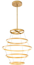 Casa Padrino luxury LED chandelier antique brass Ø 80 x H. 80 cm - Modern Round Chandelier - Luxury Collection