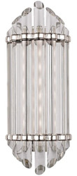 Casa Padrino Luxury Art Deco LED Wall Lamp Silver 16.5 x 10.8 x H. 41.9 cm - Luxury Quality