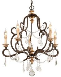 Casa Padrino Barock Kronleuchter Bronze Ø 70 x H. 83 cm - Prunkvoller Schmiedeeisen Kronleuchter mit edlen Kristallglas Behängen