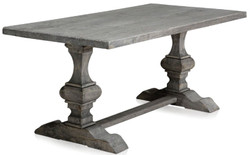 Casa Padrino luxury solid wood dining table gray 180 x 90 x H. 76 cm - Rectangular Kitchen Table Made of High Quality Untreated Old Wood
