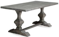 Casa Padrino Luxus Massivholz Esstisch Grau 180 x 90 x H. 76 cm - Rechteckiger Küchentisch aus hochwertigen unbehandeltem Altholz