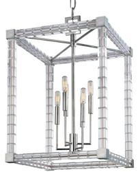 Casa Padrino Designer Kronleuchter Silber 47 x 47 x H. 70 cm - Moderner Luxus Kristallglas Kronleuchter