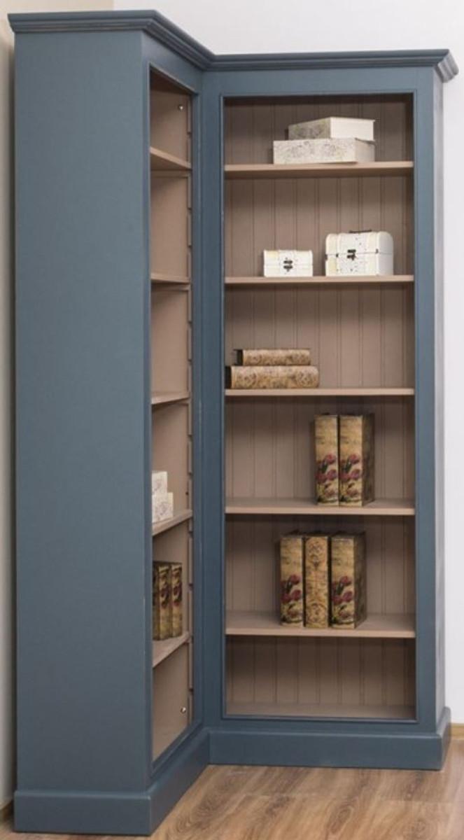 Casa Padrino armadio ad angolo in stile country blu / beige 102 x 102 x A.  210 cm - Gabinetto dei Libri in Legno Massello - Mobili da Soggiorno in ...