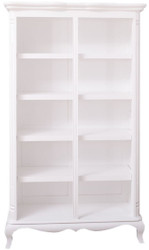 Casa Padrino country style bookcase white 112 x 49 x H. 190 cm - Solid wood shelf cabinet - Living room cabinet - Office cabinet
