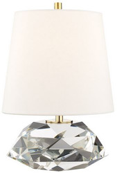 Casa Padrino luxury table lamp antique brass / white Ø 24 x H. 35 cm - Elegant table lamp with round linen lampshade - Luxury Quality