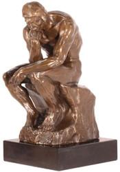 Casa Padrino Art Deco Bronze Figure The Thinker Bronze / Black H. 30.5 cm - Bronze Sculpture - Decoration Figure