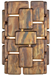 Casa Padrino Designer Wandleuchte oxidiertes Messing 25 x 21 x H. 36 cm - Luxus Kollektion
