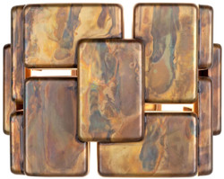 Casa Padrino Designer Wandleuchte oxidiertes Messing 25 x 21 x H. 18 cm - Luxus Kollektion