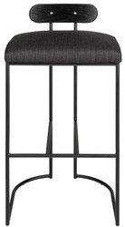 Casa Padrino designer bar stool black 46 x 46 x H. 92 cm - Modern bar stool with powder-coated steel - Luxury Bar Furniture