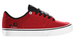 ES Footwear Skateboard Schuhe Square Two youth Kids Rouge Red/White/Black 001