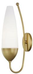 Casa Padrino Designer Wandleuchte Antik Messing / Weiß 12 x 17,8 x H. 43,8 cm - Moderne Wandlampe - Luxus Qualität