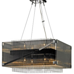 Casa Padrino luxury chandelier silver / black / dark bronze 67.3 x 67.3 x H. 36.9 cm - Luxury Quality