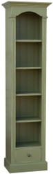 Casa Padrino country style shelf cabinet antique green 50 x 33 x H. 190 cm - Solid Wood Cabinet with 4 Shelves and Drawer - Country Style Furniture