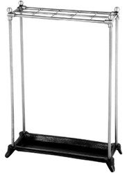 Casa Padrino luxury walking stick holder silver / black 40 x 16 x H. 54 cm - Hotel & Restaurant Accessories