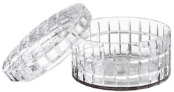 Casa Padrino luxury glass bowl with lid Ø 21 x H. 13 cm - Round Decorative Bowl Made of Hand Blown Glass