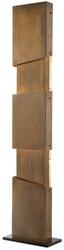 Casa Padrino Designer Stehleuchte Vintage Messingfarben / Schwarz 40 x 20 x H. 178 cm - Moderne Stehlampe - Wohnzimmer Lampe - Luxus Qualität