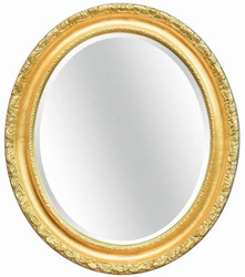 Casa Padrino luxury baroque mirror gold 64 x 6 x H. 84 cm - Oval wall mirror in baroque style - Baroque Furniture