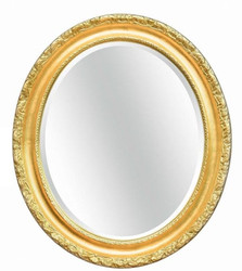 Casa Padrino luxury baroque mirror gold 54 x 6 x H. 64 cm - Oval wall mirror in baroque style - Baroque Furniture