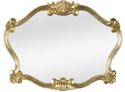 Casa Padrino Luxury Baroque Wall Mirror Gold 92 x 4 x H. 70 cm - Magnificent Baroque Style Mirror - Baroque Furniture