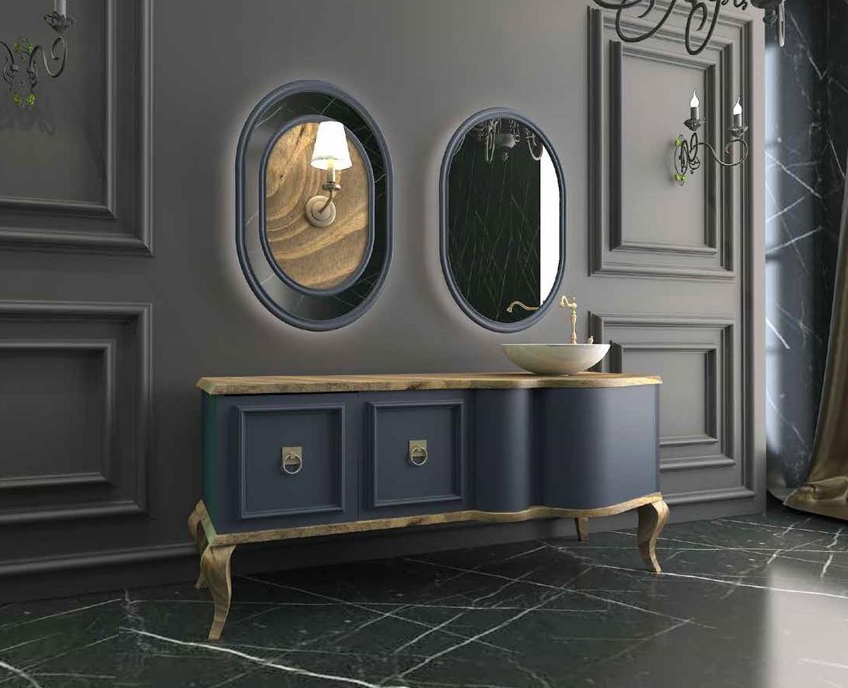 Mobili Da Bagno Barocco.Casa Padrino Set Da Bagno Barocco Di Lusso Naturale Blu 1