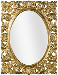 Casa Padrino luxury baroque wall mirror gold 73 x 6 x H. 95 cm - Living room mirror - Wardrobe mirror - Baroque Mirror