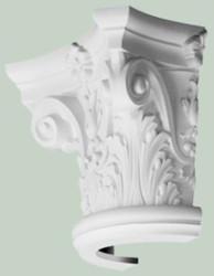 Casa Padrino baroque decorative element pillar headboard white 36 x 18 x H. 30 cm - Ornate Wall Decoration - Baroque Decoration