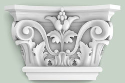 Casa Padrino baroque decorative element pillar headboard white 22.8 x 6.2 x H. 14.9 cm - Wall Decoration in Baroque Style