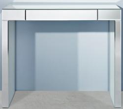 Casa Padrino Luxus Spiegelglas Konsole 100 x 30 x H. 83 cm - Konsolentisch mit Schublade - Luxus Möbel