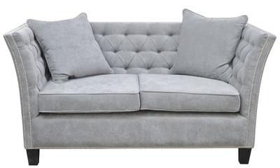 Casa Padrino Luxus Chesterfield Samt Sofa mit Kissen 174,5 x 91 x H. 86 cm - Verschiedene Farben - Wohnzimmer Möbel - Chesterfield Möbel – Bild 1