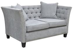Casa Padrino Luxus Chesterfield Samt Sofa mit Kissen 174,5 x 91 x H. 86 cm - Verschiedene Farben - Wohnzimmer Möbel - Chesterfield Möbel – Bild 2