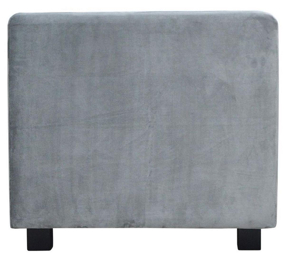 Casa Padrino Luxus Samt Sofa 200 x 75 x H. 70 cm - Verschiedene Farben - Wohnzimmer Möbel - Luxus Qualität 3