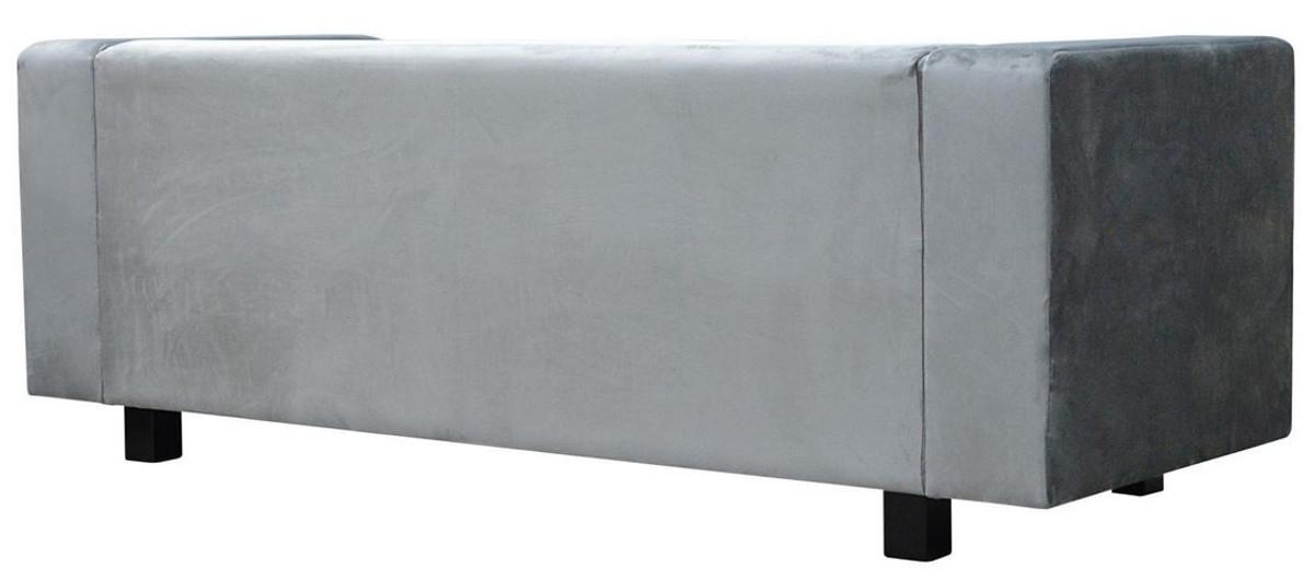 Casa Padrino Luxus Samt Sofa 200 x 75 x H. 70 cm - Verschiedene Farben - Wohnzimmer Möbel - Luxus Qualität 4