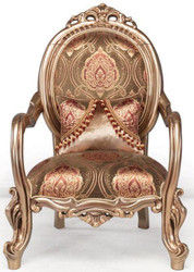 Casa Padrino luxury baroque armchair bronze / brown / bordeaux red 82 x 72 x H. 115 cm - Living room furniture - Baroque Furniture