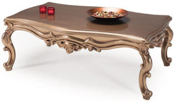 Casa Padrino luxury baroque coffee table bronze 129 x 95 x H. 48 cm - Living room furniture - Baroque Furniture