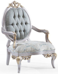 Casa Padrino luxury baroque armchair turquoise / silver / gold 83 x 82 x H. 119 cm - Noble Living Room Armchair in Baroque Style