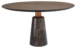 Casa Padrino luxury dining table gray Ø 132 x H. 76 cm - Round marble kitchen table - Luxury Dining Room Furniture