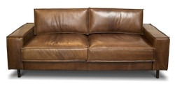 Casa Padrino luxury real leather lounge sofa vintage leather brown - luxury living room couch furniture buffalo leather