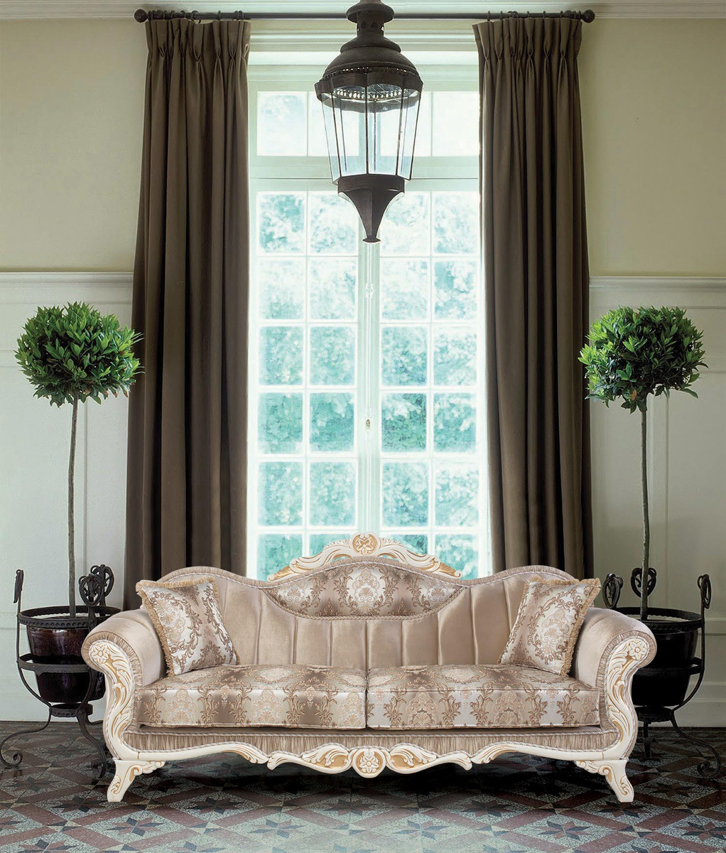 Casa Padrino Luxus Barock Wohnzimmer Set Beige Weiss Gold 2 Sofas Amp 2 Sessel Amp 1 Beistelltisch Prunkvolle Wohnzimmer Mobel Im Barockstil Ceres Webshop