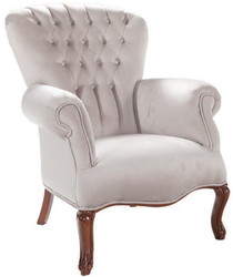 Casa Padrino luxury baroque living room armchair light gray / brown 78 x 75 x H. 101 cm - Baroque Furniture