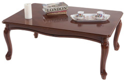 Casa Padrino luxury baroque coffee table brown 101 x 74 x H. 43 cm - Solid wood living room table in baroque style - Baroque Living Room Furniture