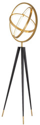 Casa Padrino designer LED floor lamp antique brass / black Ø 70 x H. 205 cm - Modern tripod floor lamp - Living room lamp - Luxury Quality
