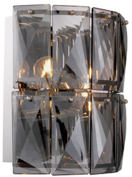 Casa Padrino luxury crystal glass wall light gray / silver 31 x 18 x H. 31 cm - Luxury Collection