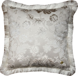 Luxury pillow Pompöös by Casa Padrino by Harald Glööckler Elegance Collection baroque pattern cream / cream 50 x 50 cm - luxury pillow