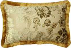 Luxury pillow Pompöös by Casa Padrino by Harald Glööckler Elegance Collection baroque pattern gold / gold 35 x 55 cm - luxury pillow