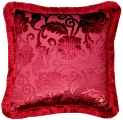 Luxury pillow Pompöös by Casa Padrino by Harald Glööckler Elegance Collection baroque pattern Bordeaux red 50 x 50 cm - luxury pillow