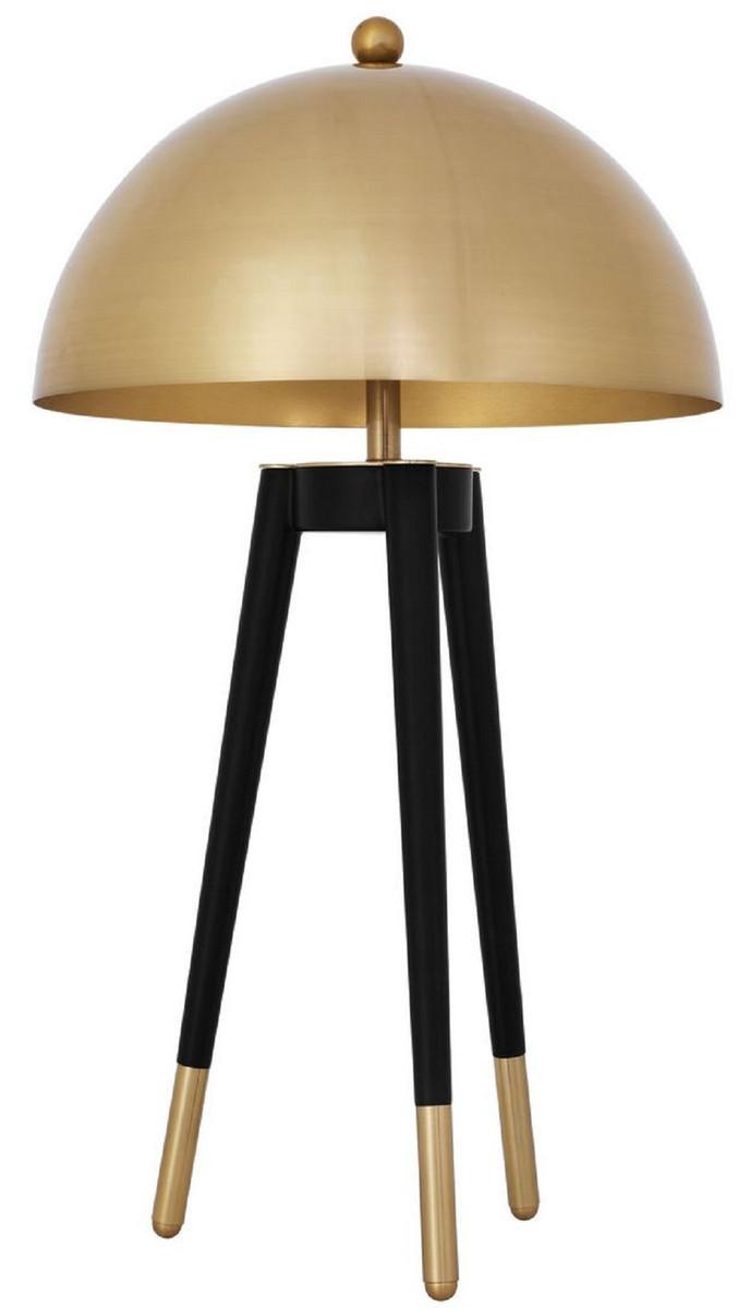 Casa Padrino Luxus Tischleuchte Gold Schwarz O 38 5 X H 69 Cm Moderne Dreibein Tischlampe Mit Rundem Metall Lampenschirm Leuchten Luster Lampen Tischleuchten Luxus Tischleuchten