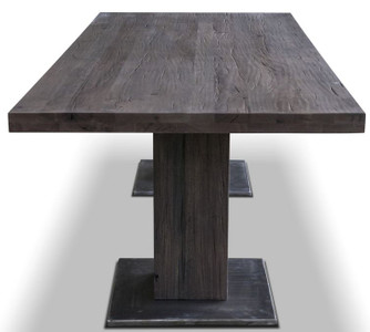 Casa Padrino luxury solid wood dining table - Different Sizes & Colors - Oak wood kitchen table with steel feet - Dining Room Furniture – Bild 2