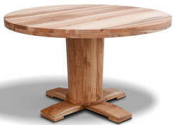 Casa Padrino luxury solid wood dining table - Different Sizes & Colors - Round oak wood kitchen table - Rustic Dining Room Furniture