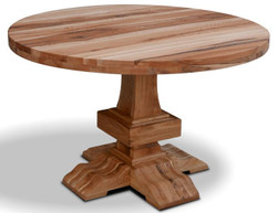 Casa Padrino solid wood kitchen table - Different Sizes & Colors - Round luxury oak wood dining table - Rustic Dining Room Furniture