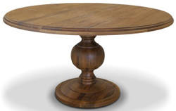 Casa Padrino solid wood kitchen table - Different Sizes & Colors - Round rustic oak dining table - Dining Room Furniture